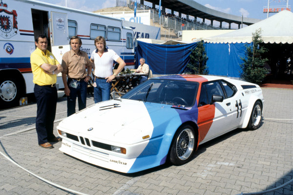 Hockenheim, Germany. 28th - 30th July 1978 Ronnie Peterson agrees to drive in the inaugural season of the BMW M1 Procar Championship in 1979. Here with Jochen Neerpasch, head of BMW's Motorsports division and Paul Rosche, head of the BMW Racing Engine Development, portrait.  World Copyright: LAT Photographic. Ref: 78GER18