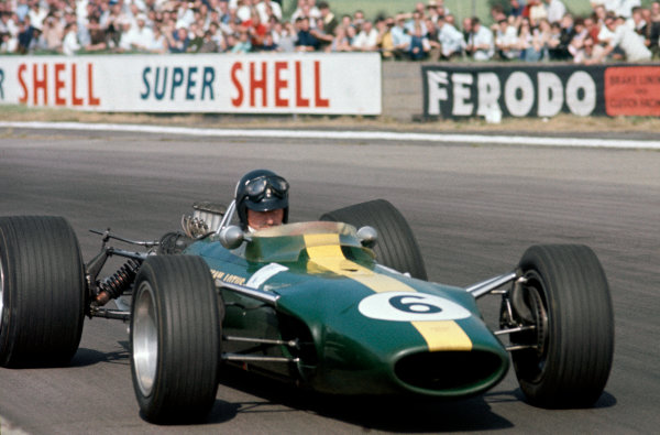 Silverstone, England. 13th - 15th July 1967. Graham Hill (Lotus 49-Ford) retired, action.Ref: 67 GB 09 World Copyright: LAT Photographic