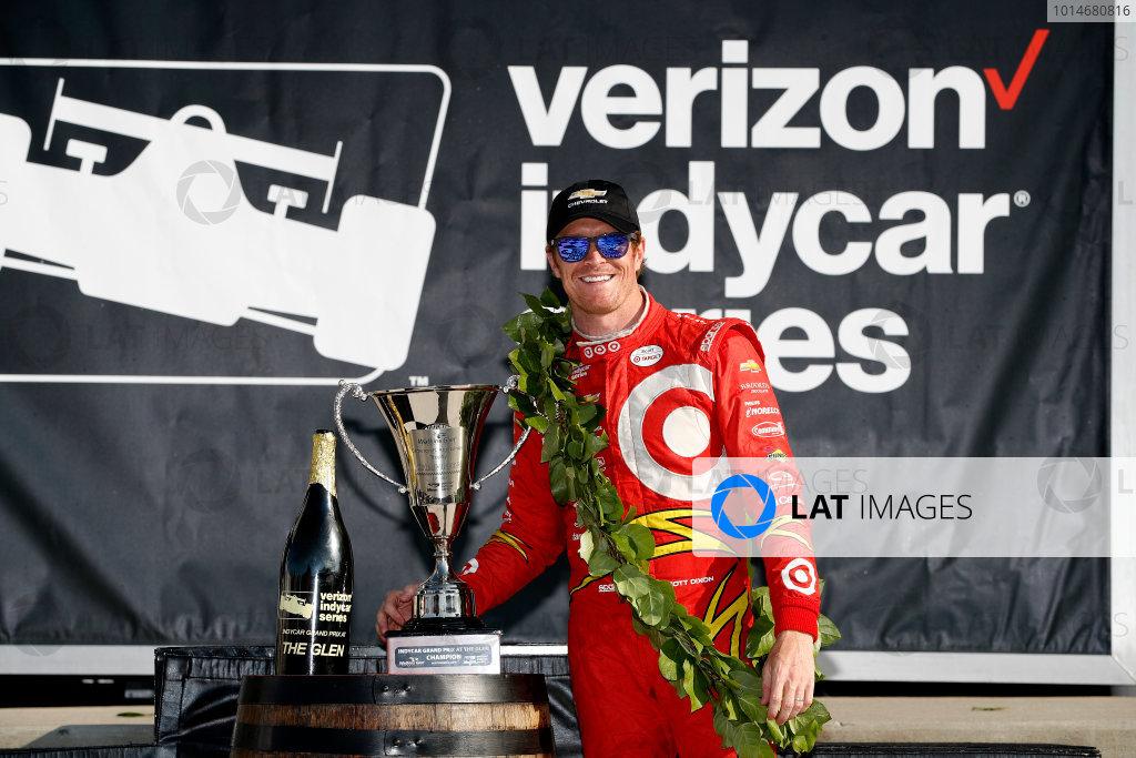 2-4 September, 2016, Watkins Glen, New York,  USA Scott Dixon, podium ?2016, Michael L. Levitt LAT Photo USA