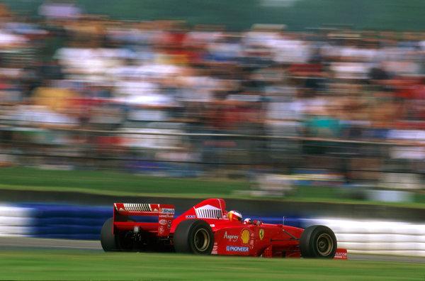 Silverstone, England.11-13 July 1997.Michael Schumacher - Ferrari F310B.Ref-97 GB 02.World Copyright - LAT Photographic