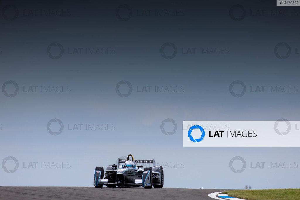 FIA Formula E Test Day, Donington Park, UK.  3rd - 4th July 2014.  Christian Danner. Photo: Malcolm Griffiths/FIA Formula E ref: Digital Image F80P7433