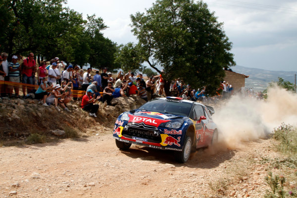 Round 06 - Rally Acropolis Greece 24-27 May 2012. Sebastien Loeb, Citroen WRC, Action.  Worldwide Copyright: McKlein/LAT