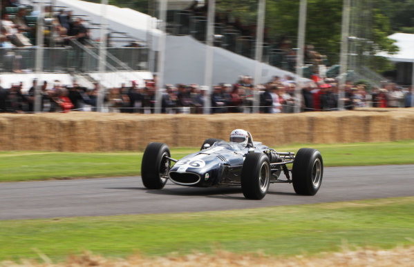 Goodwood Estate, West Sussex, England. 28th June - 1st July 2012. Brian Redman in the Eagle Weslake T1G. World Copyright: Kevin Wood/LAT Photographic Ref: IMG_9456a