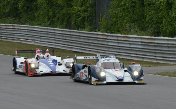 6-7 July, 2012, Lakeville, Connecticut USA#16 Dyson Racing Lola B12/60 with #6 HPD(c)2012 Dan R. Boyd LAT Photo USA