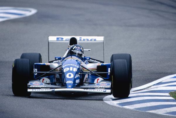 1994 German Grand Prix.Hockenheim, Germany. 29-31 July 1994.Damon Hill (Williams FW16B Renault) 8th position.Ref-94 GER 57.World Copyright - LAT Photographic