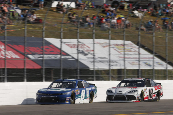 #8: Ryan Truex, JR Motorsports, Chevrolet Camaro Bar Harbor #18: Harrison Burton, Joe Gibbs Racing, Toyota Supra Dex Imaging