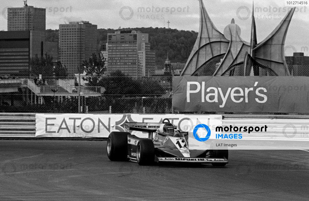 1978 Canadian Grand Prix.Montreal, Quebec, Canada.6-8 October 1978.Gilles Villeneuve (Ferrari 312T3) 1st position.World Copyright - LAT Photographic