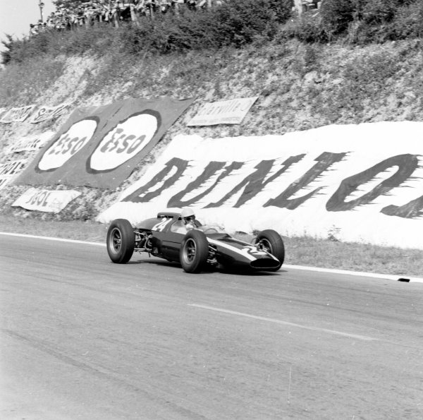 1962 French Grand Prix.Rouen-les-Essarts, France.6-8 July 1962.Tony Maggs (Cooper T60 Climax) 2nd position.Ref-14522.World Copyright - LAT Photographic