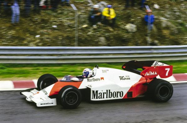 Alain Prost, McLaren MP4-2 TAG.