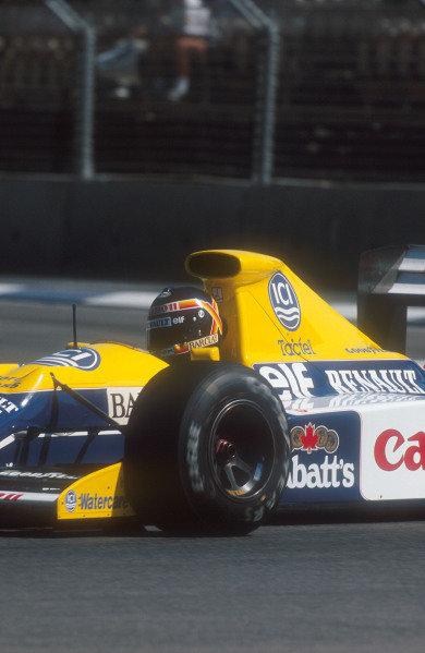 1990 Australian Grand Prix.Adelaide, Australia.2-4 November 1990.Thierry Boutsen (Williams FW13B Renault) 5th position.Ref-90 AUS 18.World Copyright - LAT Photographic