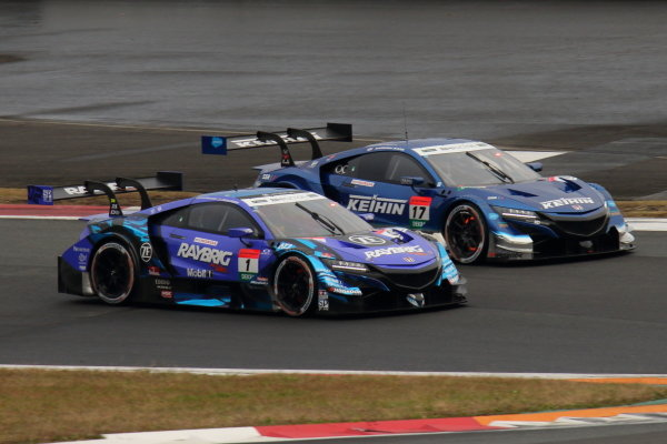 Super GT - DTM Dream Race 1, Koudai Tsukakoshi, Keihin Real Racing, Honda NSX-GT, 2nd position in GT500, battles Naoki Yamamoto, Raybrig Team Kunimitsu, Honda NSX-GT, 3rd in GT500