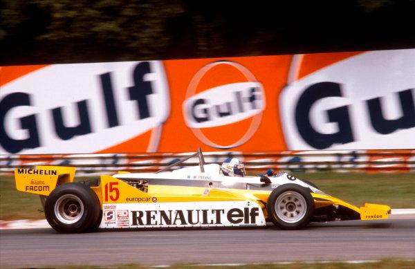 1981 Italian Grand Prix.Monza, Italy.11-13 September 1981.Alain Prost (Renault RE30) 1st position.Ref-81 ITA 08.World Copyright - LAT Photographic