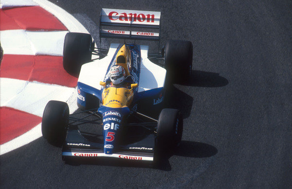 1992 French Grand Prix.Magny-Cours, France.3-5 June 1992.Nigel Mansell (Williams FW14B Renault) 1st position.Ref-92 FRA 10.World Copyright - LAT Photographic