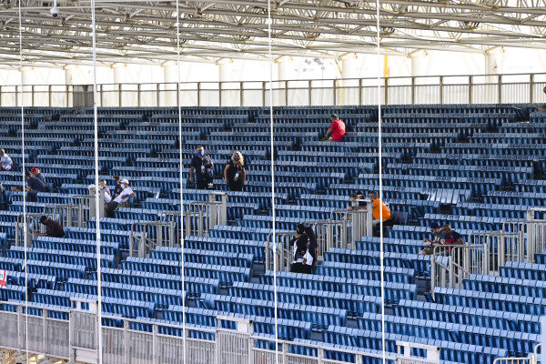 Social distancing in a grandstand