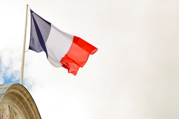 French flag flies over Les Invalides