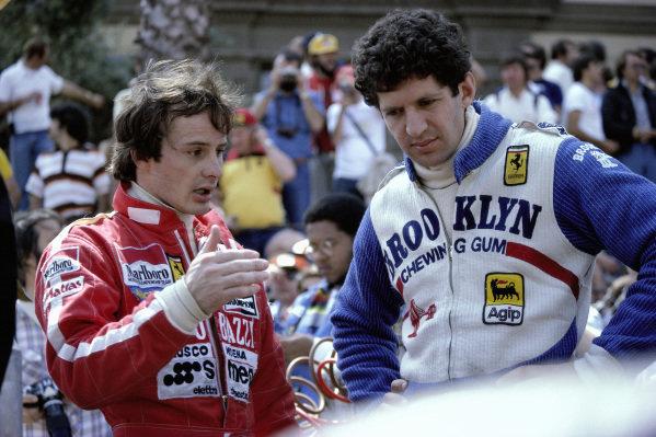 Gilles Villeneuve and Jody Scheckter.