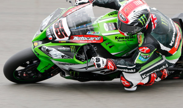 2015 World Superbike Championship.  Donington Park, UK.  23rd - 24th May 2015.  Jonathan Rea, Kawasaki.  Ref: KW7_4743a. World copyright: Kevin Wood/LAT Photographic