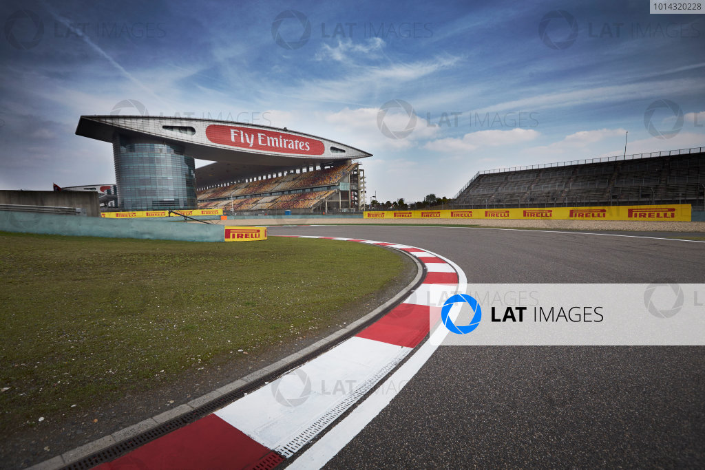 Shanghai International Circuit, Shanghai, China. Wednesday 8 April 2015. A view of the circuit. World Copyright: Steve Etherington/LAT Photographic. ref: Digital Image SNE16599
