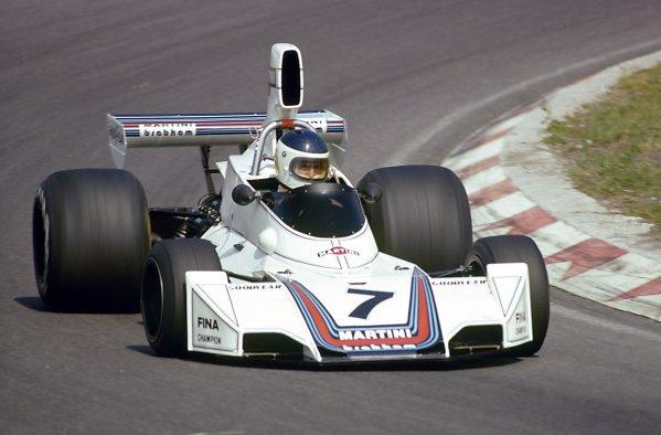 1975 Dutch Grand Prix.Zandvoort, Holland. 22 June 1975.Carlos Reutemann, Brabham BT44B-Ford, 4th position, action.World Copyright: LAT PhotographicRef: 35mm transparency 75HOL