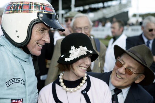 2005 Goodwood Revival MeetingGoodwood, West Sussex. 16th - 18th September 2005Sir Jackie Stewart Tribute.Jackie Stewart shares a joke with wife, Helen and friend Stirling Moss.World Copyright: Gary Hawkins/LAT PhotographicDigital Image Only