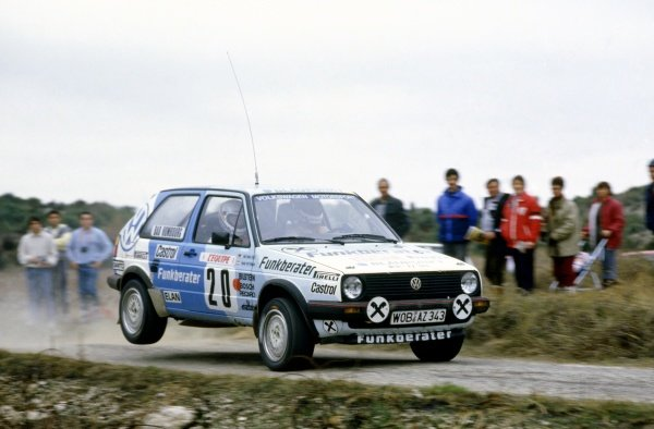 1986 World Rally Championship.Monte Carlo Rally, Monaco. 18-24 January 1986.Franz Wittmann/Matthias Feltz (Volkswagen Golf GTi 16V), 10th position.World Copyright: LAT PhotographicRef: 35mm transparency 86RALLY11