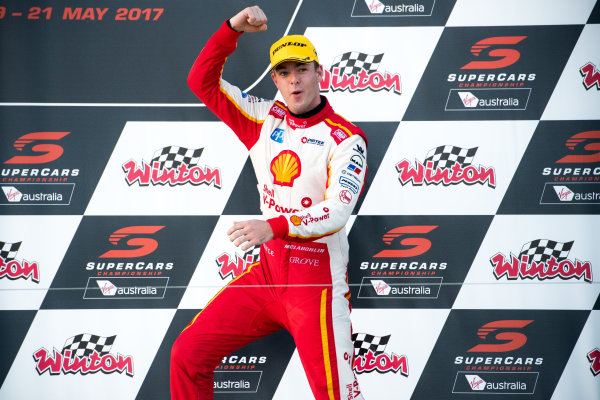 2017 Supercars Championship Round 5.  Winton SuperSprint, Winton Raceway, Victoria, Australia. Friday May 19th to Sunday May 21st 2017. Scott McLaughlin driver of the #17 Shell V-Power Racing Team Ford Falcon FGX. World Copyright: Daniel Kalisz/LAT Images Ref: Digital Image 200517_VASCR5_DKIMG_5430.JPG