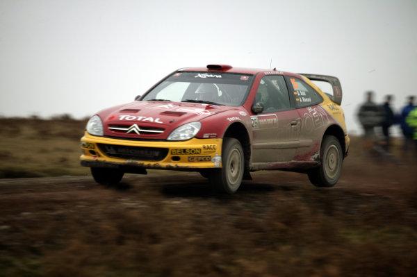 2003 FIA World Rally Champs. Round fourteen Wales Rally GB 6th-9th November 2003.Dani Sola, Citroen, ActionWorld Copyright: McKlein/LAT