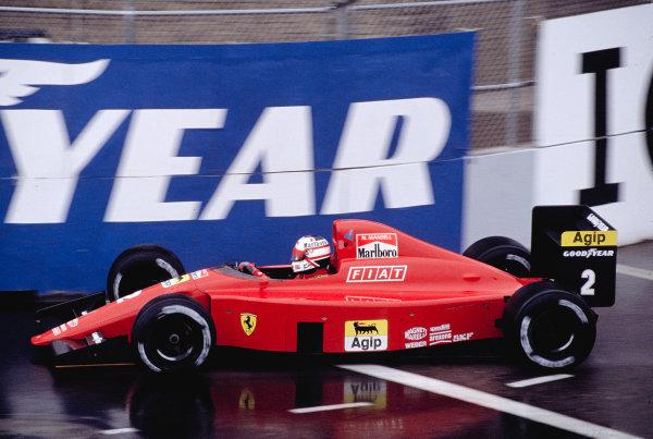 1990 United States Grand Prix.Phoenix, Arizona, USA.9-11 March 1990.Nigel Mansell (Ferrari 641) 3rd position.Ref-90 USA 49.World Copyright - LAT Photographic