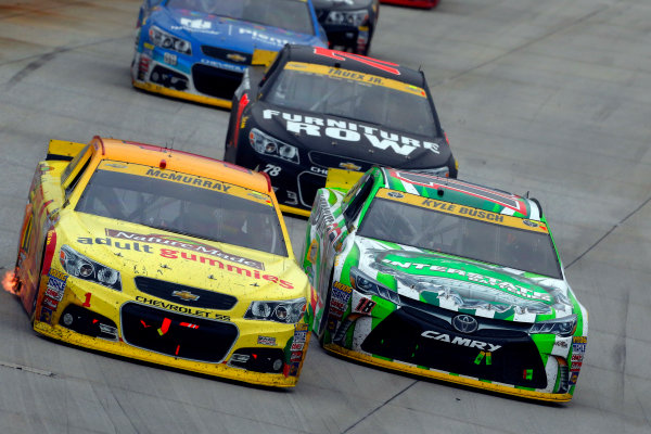 2-4 October, 2015, Dover, Delaware USA Jamie McMurray and Kyle Busch, Interstate Batteries Toyota Camry ?2015, Russell LaBounty LAT Photo USA