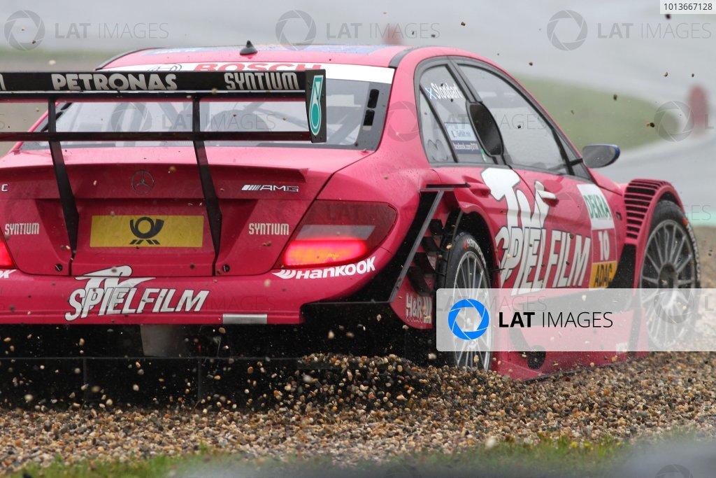Oliver Jarvis (GBR), Audi Sport Team Abt, Audi Performance A4 DTM (2009) goes through the gravel.DTM, Rd8, Oschersleben, Germany, 16-18 September 2011 Ref: Digital Image dne1118se534