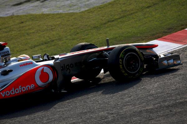 Suzuka Circuit, Suzuka, Japan.7th October 2011.Lewis Hamilton, McLaren MP4-26 Mercedes. Action. World Copyright: Glenn Dunbar/LAT Photographicref: Digital Image IMG_2602