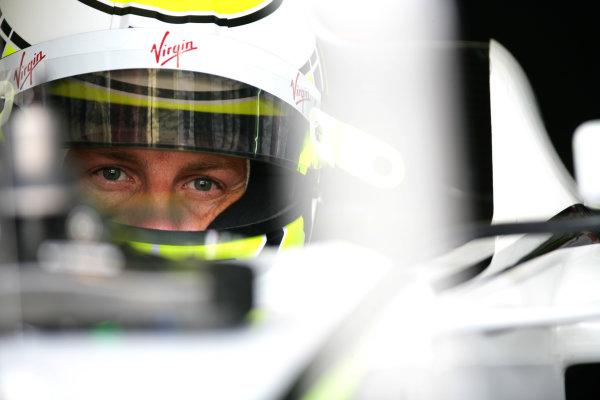 Sepang, Kuala Lumpur, Malaysia 3rd April 2009 Jenson Button, Brawn GP BGP001 Mercedes. Portrait. Helmets.  World Copyright: Glenn Dunbar/LAT Photographic ref: Digital Image YY8P0740