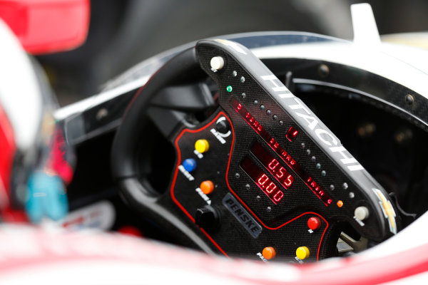 17-18  March, 2014, Birmingham, Alabama, USA Juan Pablo Montoya steering wheel © 2014, Michael L. Levitt LAT Photo USA