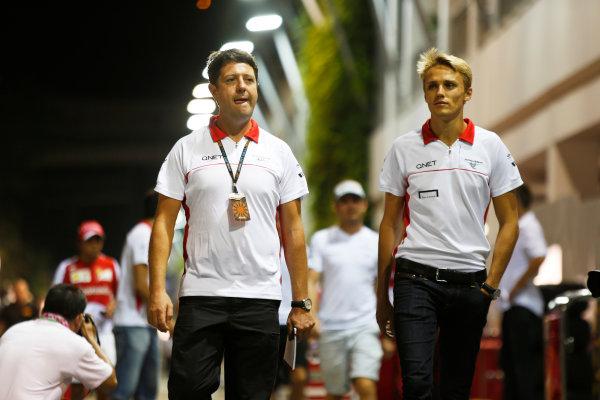 Marina Bay Circuit, Singapore. Friday 20th September 2013. Max Chilton, Marussia F1. World Copyright: Charles Coates/LAT Photographic. ref: Digital Image _N7T3045
