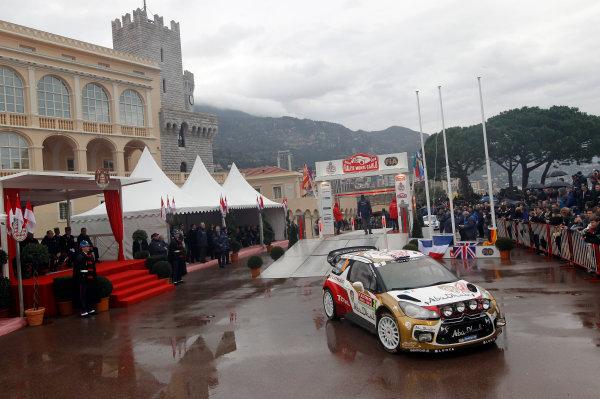 2014 World Rally Championship Monte Carlo Rally 13th - 19th January 2014 Kris Meeke, Citroen, podium Worldwide Copyright: McKlein/LAT