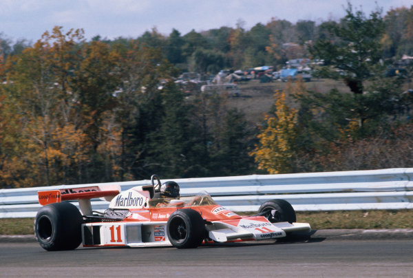 Watkins Glen, New York, USA. 8th - 10th October 1976. James Hunt (McLaren M23 Ford) 1st position, action.  World Copyright: LAT Photographic.  Ref:  76 USA 11.