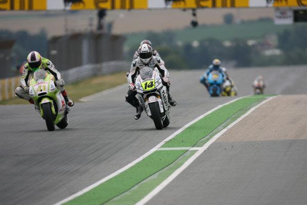 Germany Sachsenring 16-18 July 2010Aleix Espargaro Pramac Racing Ducati out brakes Rand de Puniet LCR Honda