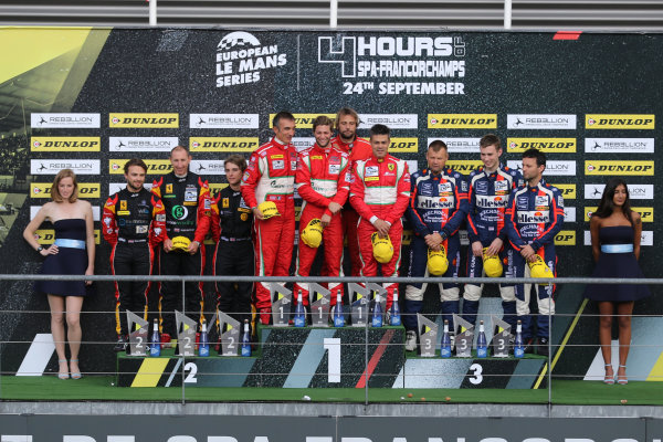 2017 European Le Mans Series  Spa-Franchorchamps, Belgium 22nd-24th September 2017 GTE Podium  World copyright. JEP/LAT Images