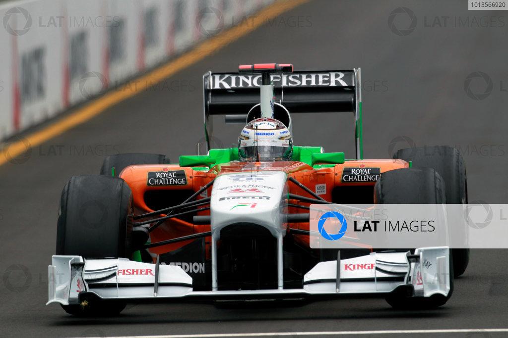 Albert Park, Melbourne, Australia25th March 2011.Adrian Sutil, Force India VJM04 Mercedes. Action. World Copyright: Charles Coates/LAT Photographicref: Digital Image _X5J8570