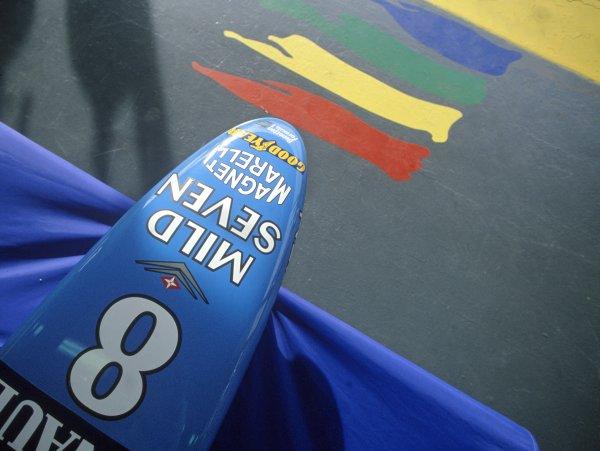 1997 Spanish Grand Prix.Catalunya, Spain. 25 May 1997.Gerhard Berger, Benetton B197-Renault, 10th position.World Copyright: LAT PhotographicRef: 35mm transparency
