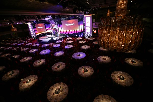 2007 Autosport AwardsGrosvenor House Hotel, Park Lane, London2nd December 2007.The Great Room is set for the ceremony.World Copyright: Andrew Ferraro/LAT Photographicref: Digtal Image VY9E9887