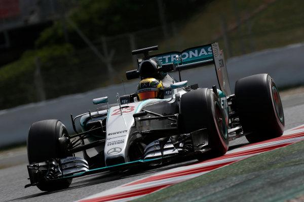 Circuit de Catalunya, Barcelona, Spain. Wednesday 13 May 2015. Pascal Wehrlein, Mercedes F1 W06 Hybrid.  World Copyright: Alastair Staley/LAT Photographic. ref: Digital Image _79P5138