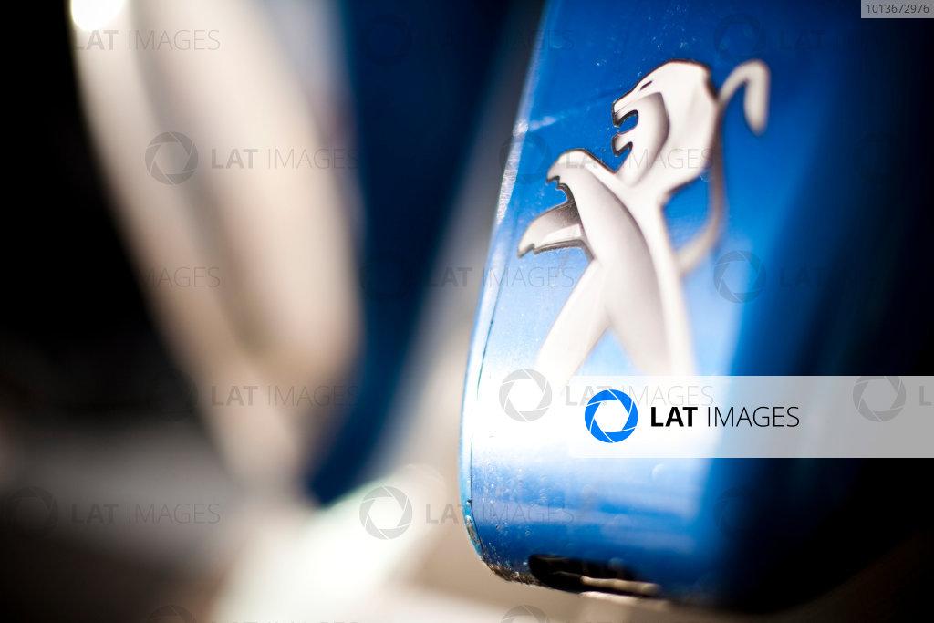 Intercontinental Le Mans Cup and American Le Mans Series.Petit Le Mans. Road Atlanta, Atlanta Georgia. 28th September - 1st October 2011. Logo on the car of Anthony Davidson / Sebastien Bourdais / Simon Pagenaud, Peugeot Sport Total, Peugeot 908. Detail.  Photo: Drew Gibson/LAT Photographic. ref: Digital Image _Y2Z8526