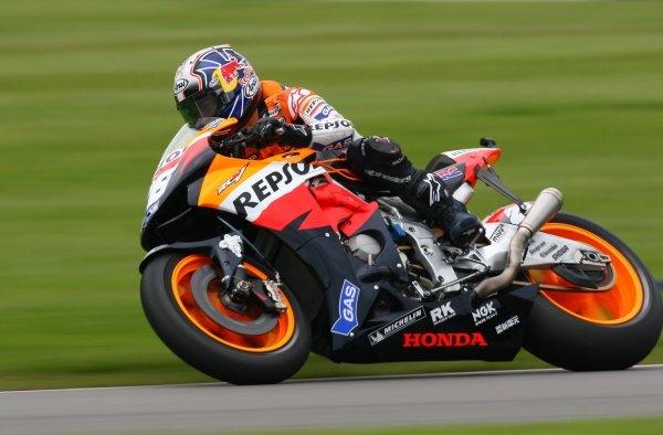 2007 Moto GP British Grand Prix.Donington Park, England.22nd-24th June 2007.Dani Pedrosa (Repsol Honda Team, Honda RCV 212) action.World Copyright: Kevin Wood/LAT Photographicref: Digital Image IMG_4907