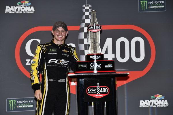 #77: Justin Haley, Spire Motorsports, Chevrolet Camaro Fraternal Order of Eagles victory lane