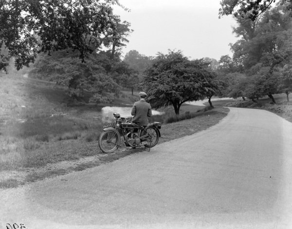 Matchless motorcycle in Richmond Park.