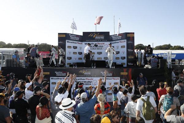 podium, throwing hats