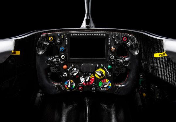 The new Alfa Romeo Sauber C37 steering wheel, Hinwil, Switzerland, 20 February 2018.