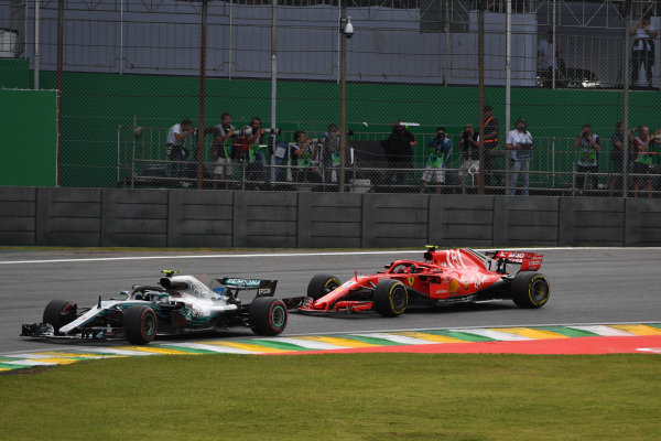 Valtteri Bottas, Mercedes-AMG F1 W09 EQ Power+ and Kimi Raikkonen, Ferrari SF71H
