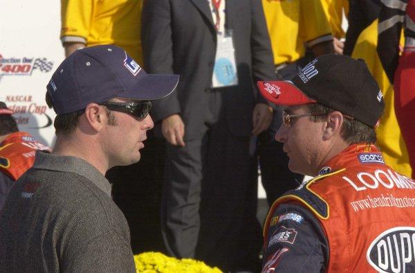 2002 NASCAR,Kansas City,Ks. Sept 26-29, 2002 USA -Jimmie Johnson and Robbie LoomisCopyright-Robt LeSieur2002LAT Photographic